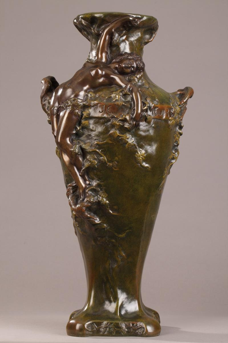 Grand Vase En Bronze à Deux Patines De Marcel Debut (1865-1933)