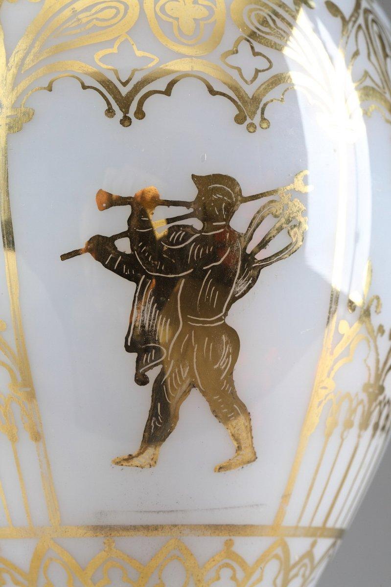 Vases En Opaline Restauration à Décor Desvignes-photo-4