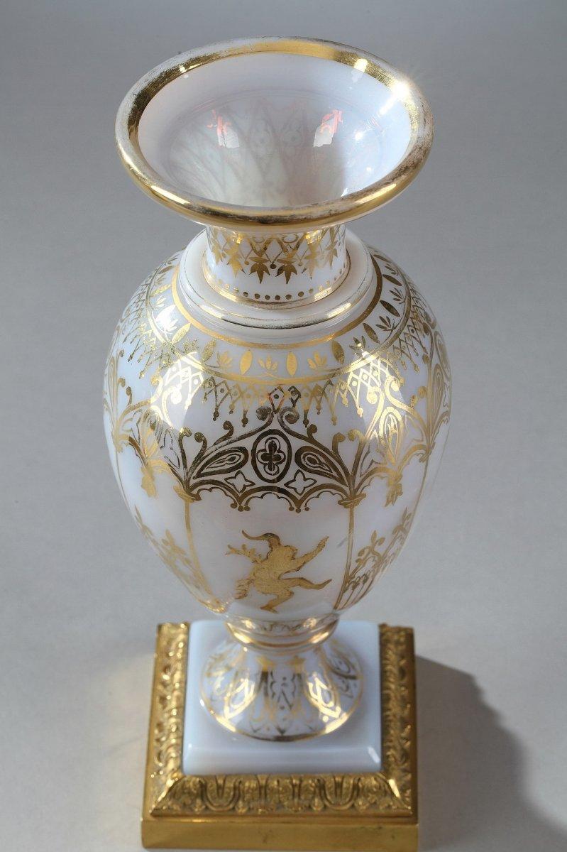 Vases En Opaline Restauration à Décor Desvignes-photo-7