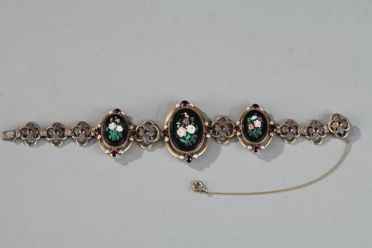 Bracelet En Vermeil à Décor De Médaillons En Micro-mosaïques