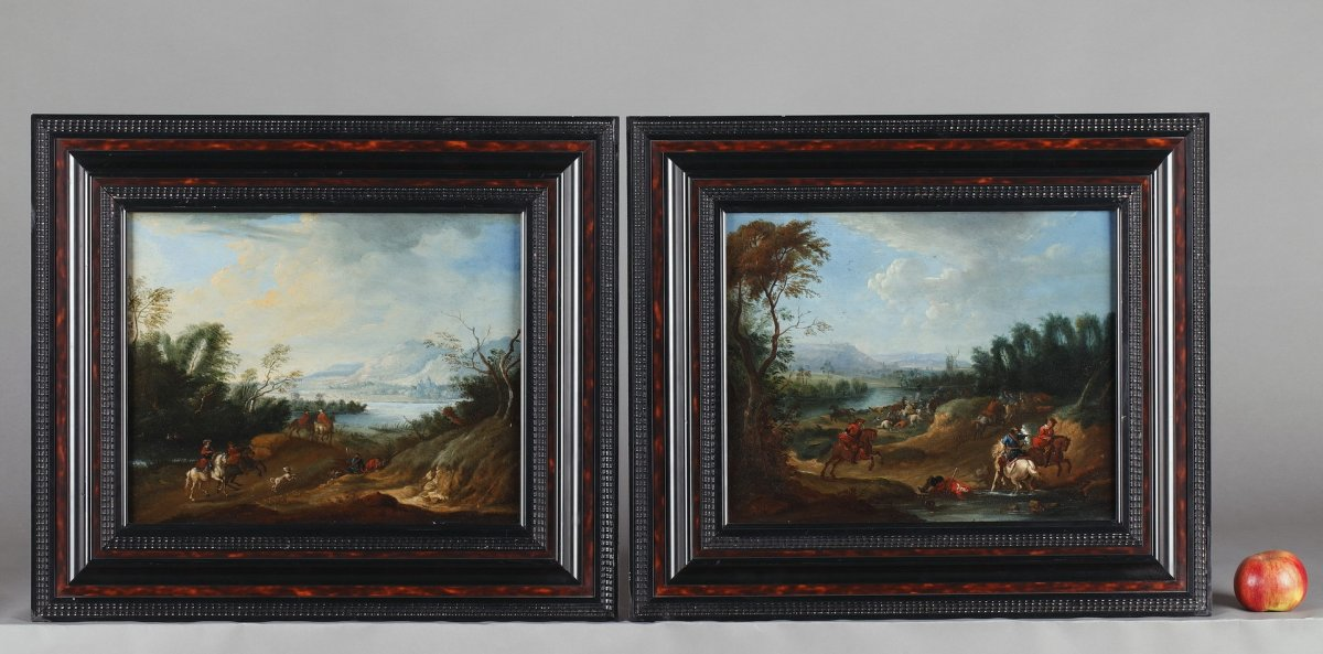 Two Landscapes Attributed To Elias Martin