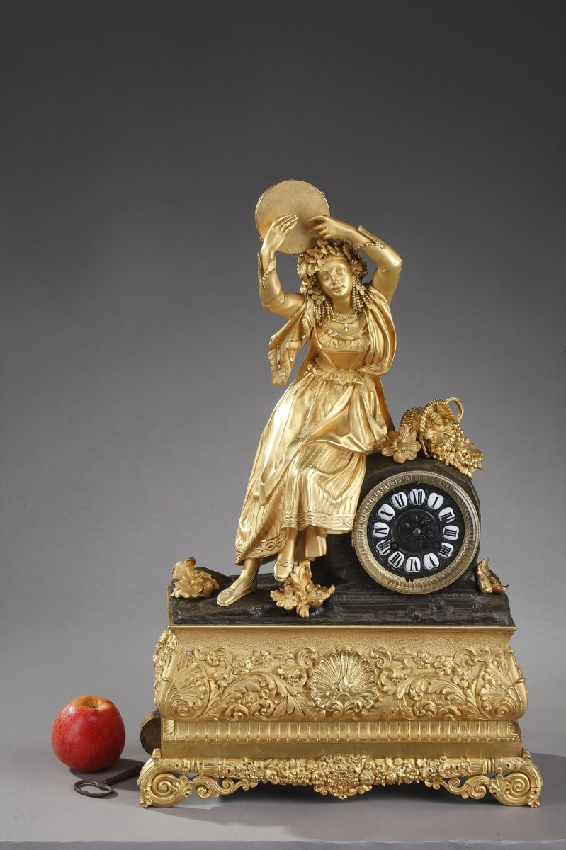 Clock Esmeralda Or Dancer With A Tambourine