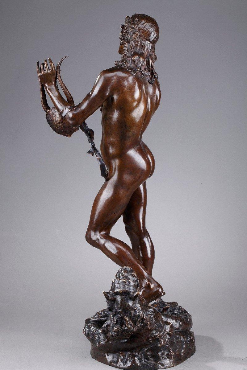 Statue En Bronze : Orphée Et Cerbère, Par Edme Antony Paul Noël (1845-1909)-photo-3
