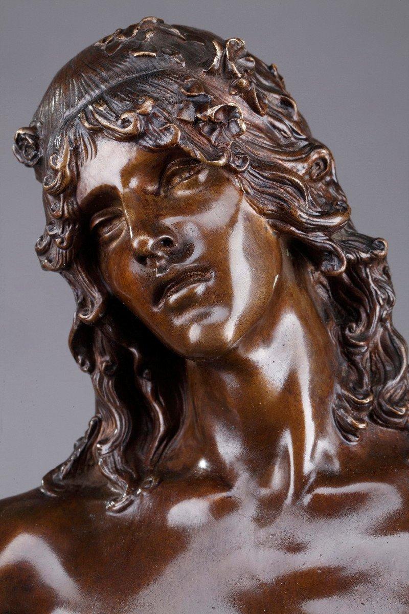 Statue En Bronze : Orphée Et Cerbère, Par Edme Antony Paul Noël (1845-1909)-photo-2