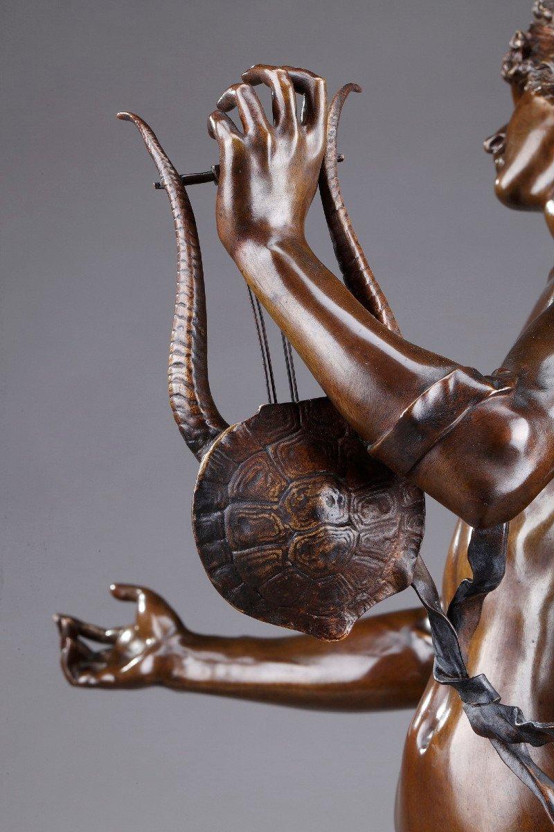 Statue En Bronze : Orphée Et Cerbère, Par Edme Antony Paul Noël (1845-1909)-photo-4