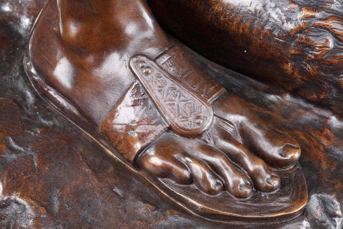Statue En Bronze : Orphée Et Cerbère, Par Edme Antony Paul Noël (1845-1909)-photo-6