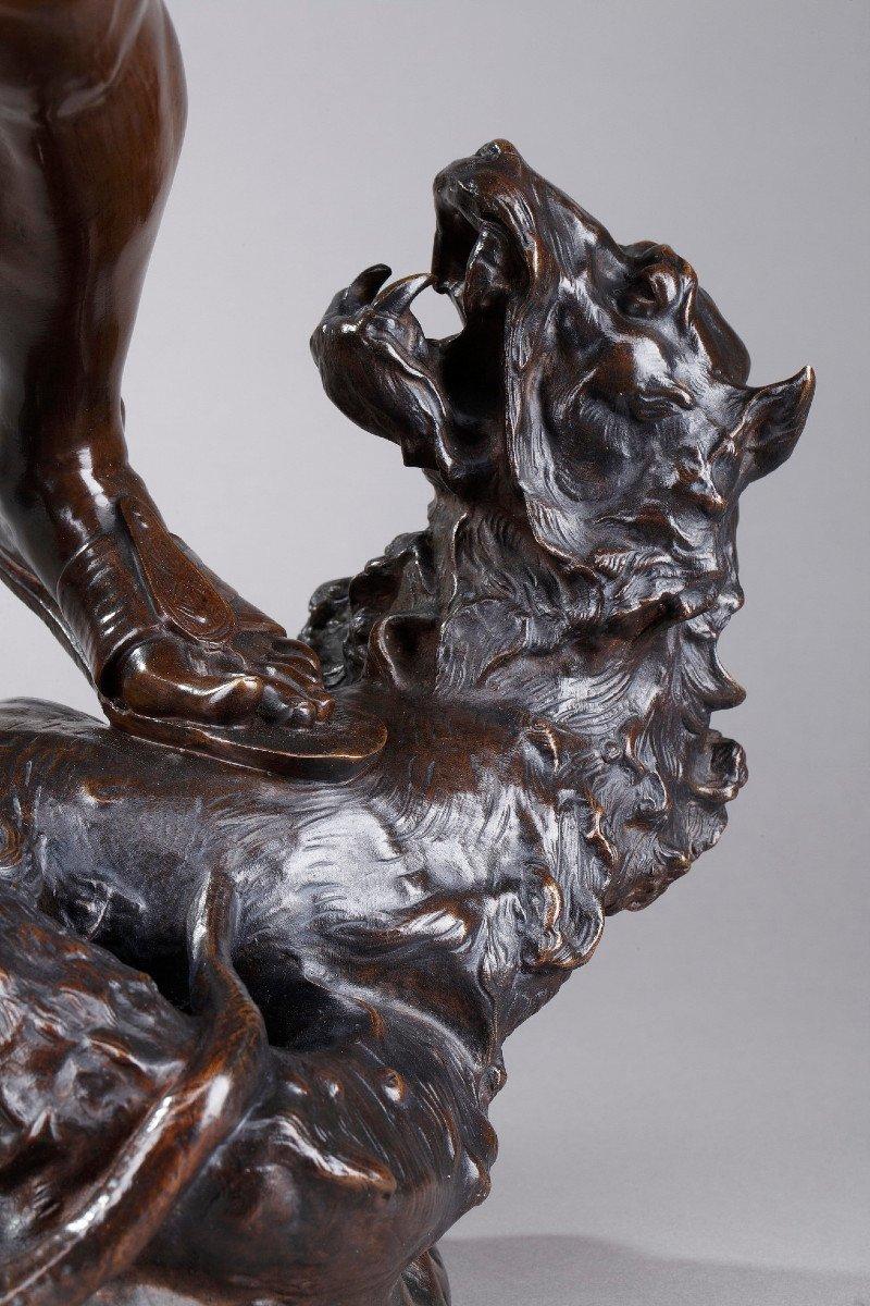 Statue En Bronze : Orphée Et Cerbère, Par Edme Antony Paul Noël (1845-1909)-photo-7