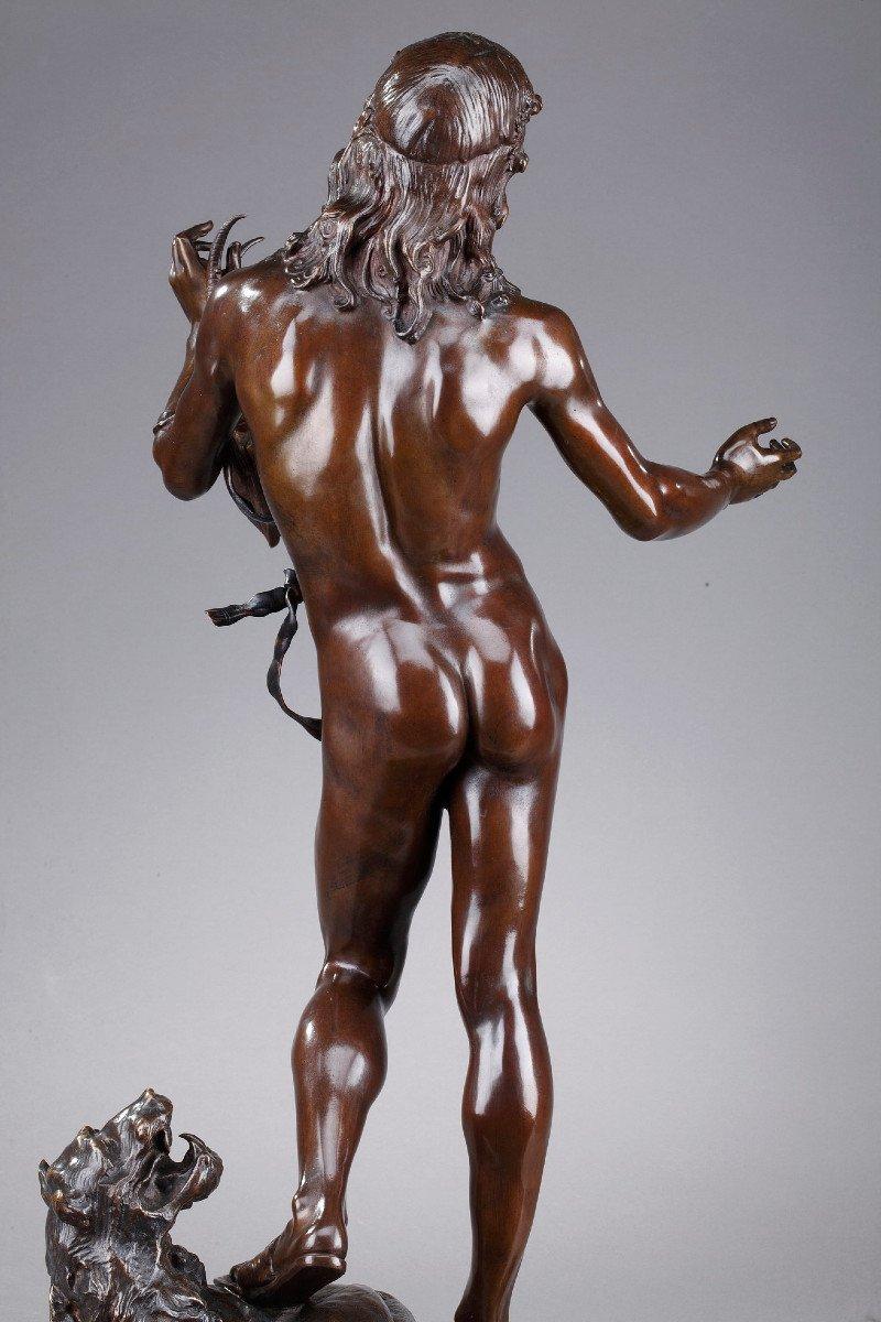 Statue En Bronze : Orphée Et Cerbère, Par Edme Antony Paul Noël (1845-1909)-photo-1