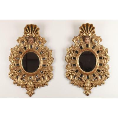 Pair Of Mirrors In 17th Century Venetian Style