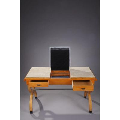 Mid-20th Century Birch Dressing Table And Desk