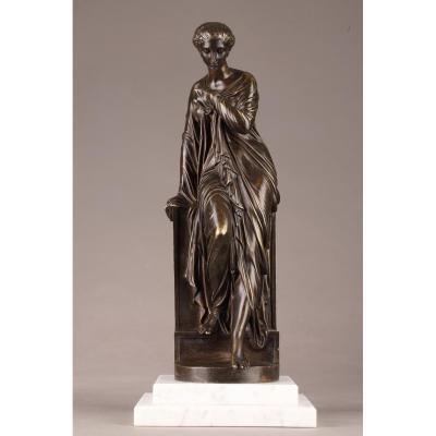 Bronze Statue Suzanne d'Eugène Antoine Aizelin (1821-1902)