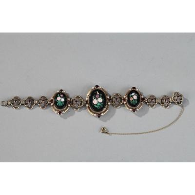 Silver-gilt Bracelet With Micromosaic Medallions