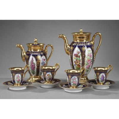 Paris Porcelain Coffee Service In Charles X Style