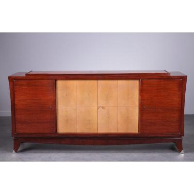 Art Deco Rosewood, Mahogany And Galuchat Cabinet