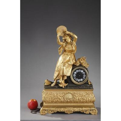 Clock Esmeralda Or Dancer With A Tambourine