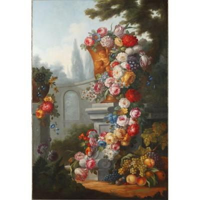 Gaspare Lopez (after) : Large Painting, Still Life