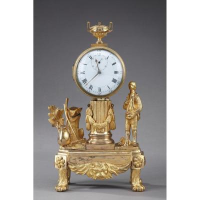 Petite Pendule Au Jardinier, époque Louis XVI