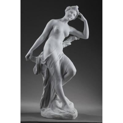 Very Large Art Nouveau Bisque: Bather