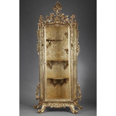 Baroque-style Italian Giltwood Vitrine