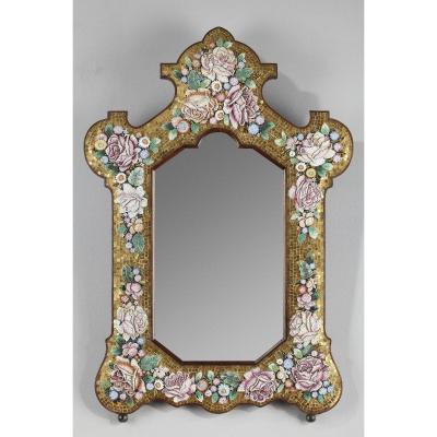 Miroir En Micro-mosaïque, Venise, Fin Du XIXème Siècle