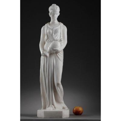 Sculpture En Albâtre La Samaritaine, époque Art Déco