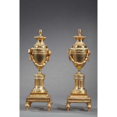 Paire De Cassolettes De Style Louis XVI
