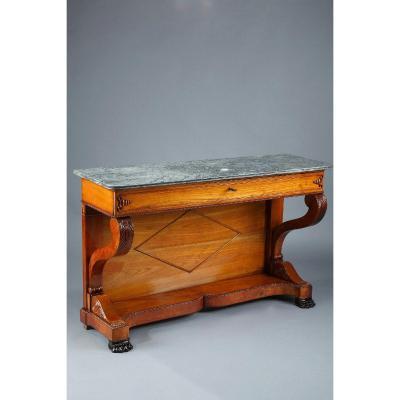 Large console en merisier, XIXème siècle