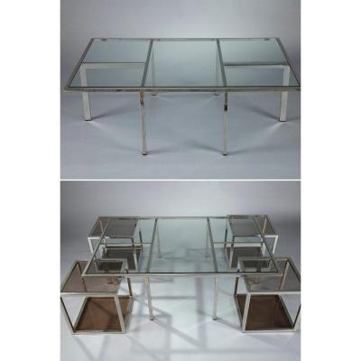 Table Basse Et 4 Tables d'Appoint Amovibles