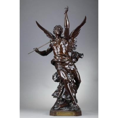 """Sculpture en bronze """"La pensée"""" d'Emile-Louis Picault"""