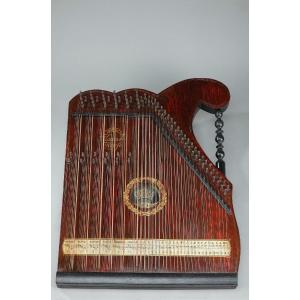 Painted Wood Table Zither