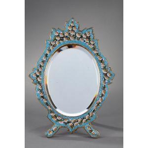 Miroir à Poser Ovale En Micro-mosaïque