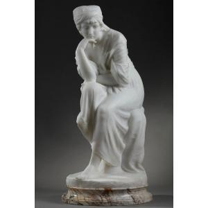 Statue En Marbre Blanc Dite