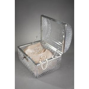 Cut Crystal Rectangular Case  From Baccarat, 19th Century