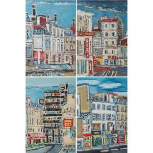 Four Engravings Of Paris By Orfeo Tamburini