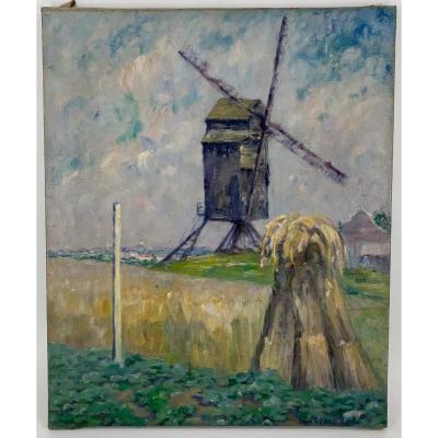 Moulin Au Pays-bas Circa 1930 De Caroline Stienon Du PrÉ (1883-1979)