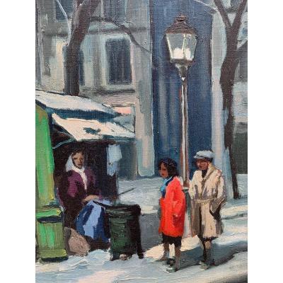 La Marchande d'Allumettes à Paris Par Rs. Surgent (?) Circa 1950