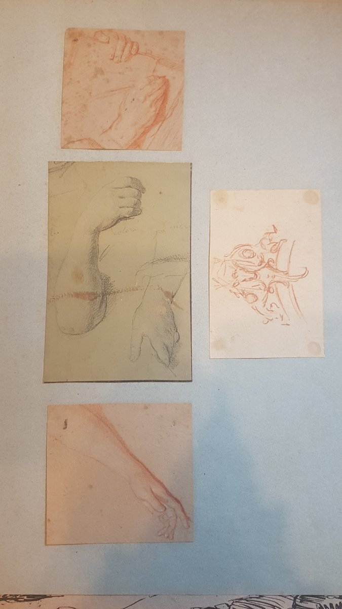 Jacques Sablet 4 Drawings Studies Of Hands