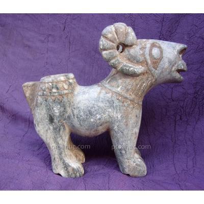 Mouflon en serpentine pièce antique