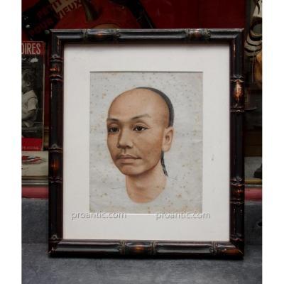 Dessin portrait homme chinois