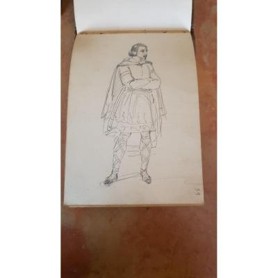 Antoine Edmond Victor Joinville Carnet De Dessins Portraits Costumes