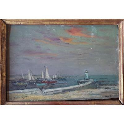 Henri Foreau Marine Sur Panneau