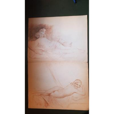 Carnet De Dessins  Erotique Nus Jg Domergue