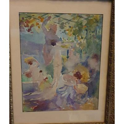 Watercolor And Drawing By Charles Perron Erotique