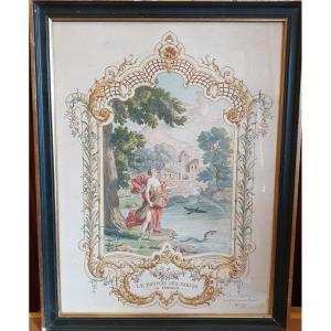 Aquarelle Fables De La Fontaine Par G Dilly Peintre