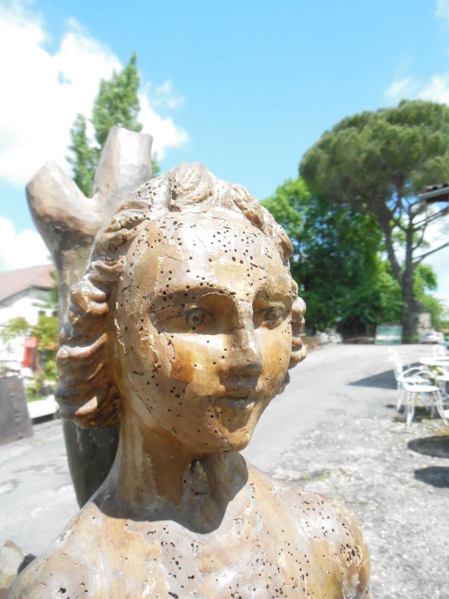 Sculpture noyer Statue Saint-Sébastien,  XVIIème-photo-3