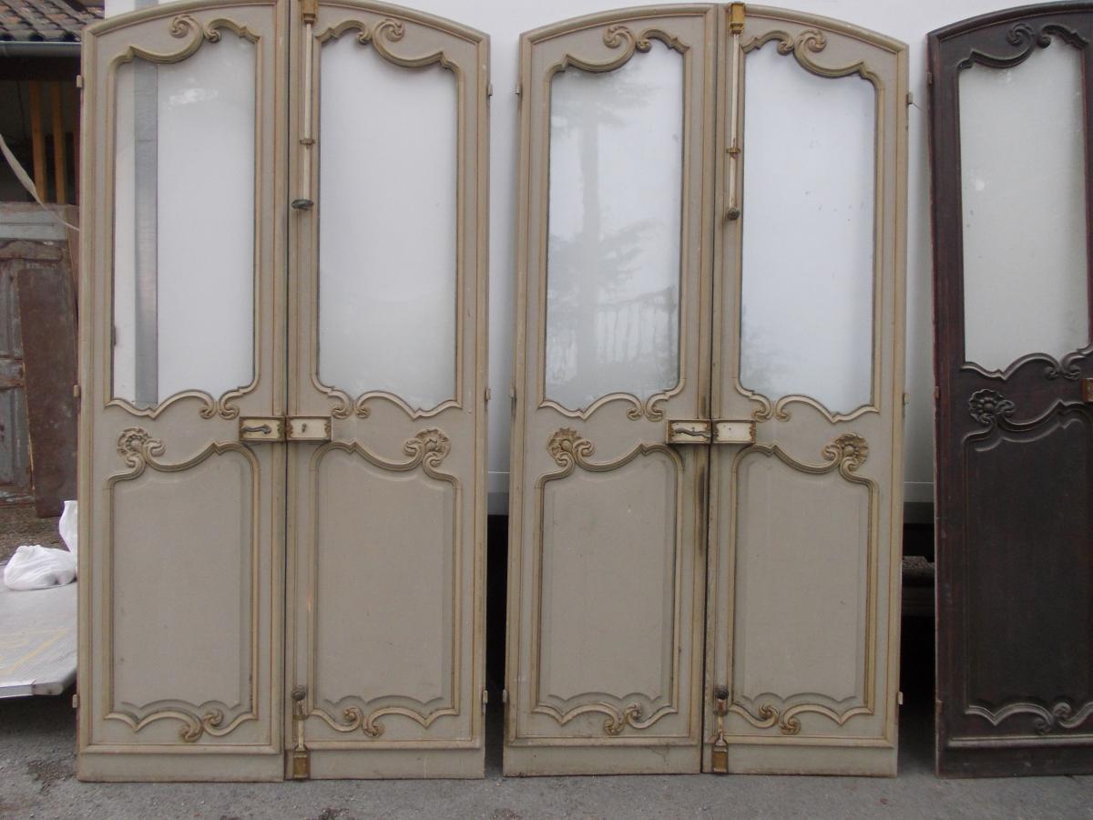 triple paires de portes louis xv boiseries portes volets. Black Bedroom Furniture Sets. Home Design Ideas