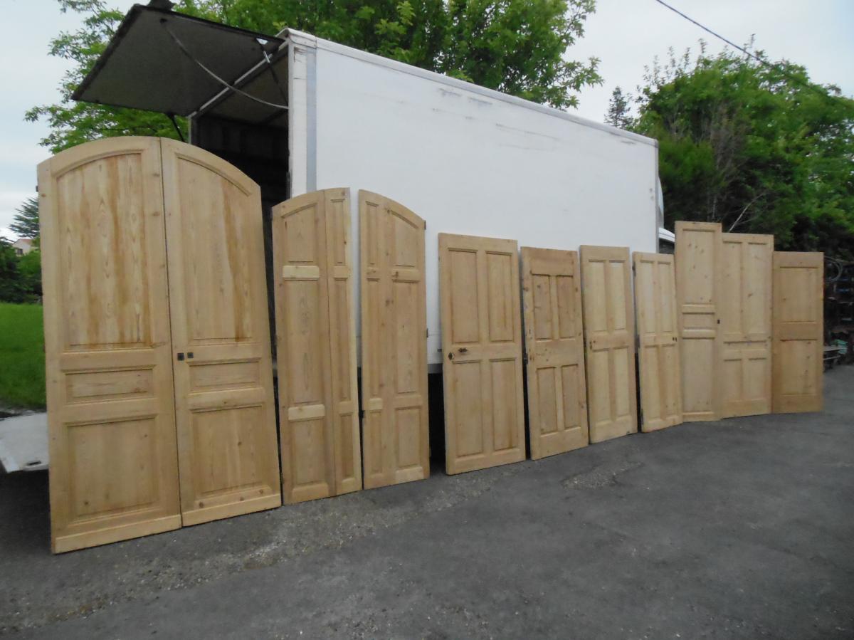 Rare suite Portes Anciennes, Porte Résineux, placard, chalet, boiserie