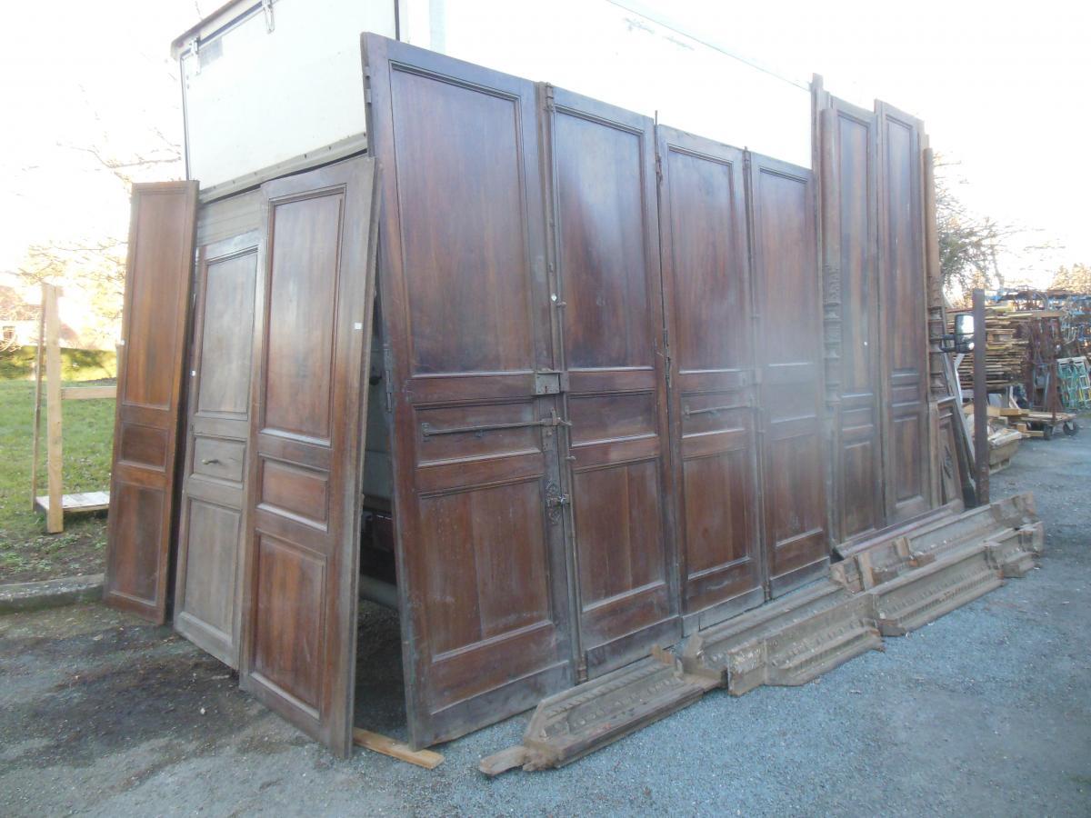 Portes Et Boiseries Noyer 1830 ,1850;boiserie Et Porte En Noyer