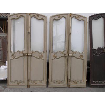 Triple Paires De Portes anciennes et porte Louis XV