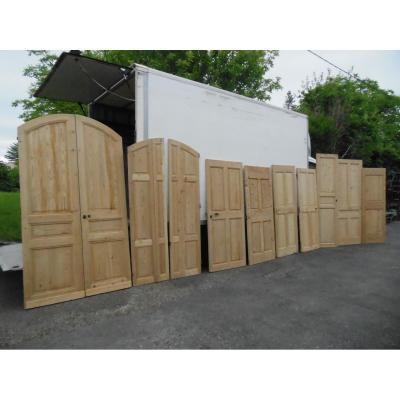 Rare Suite Portes Ancienne,porte Resineux placard,chalet,boiserie